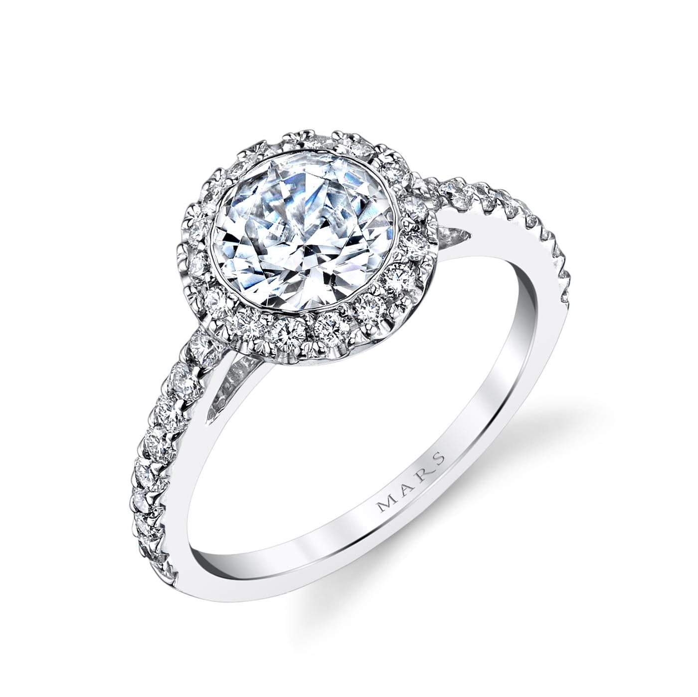 Halo Engagement RingStyle #: MARS 13813