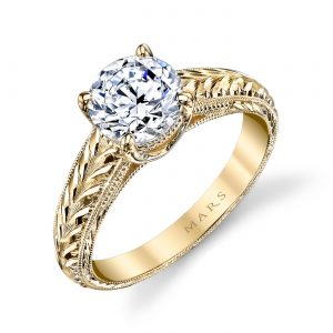 Solitaire Engagement RingStyle #: MARS 14336HE