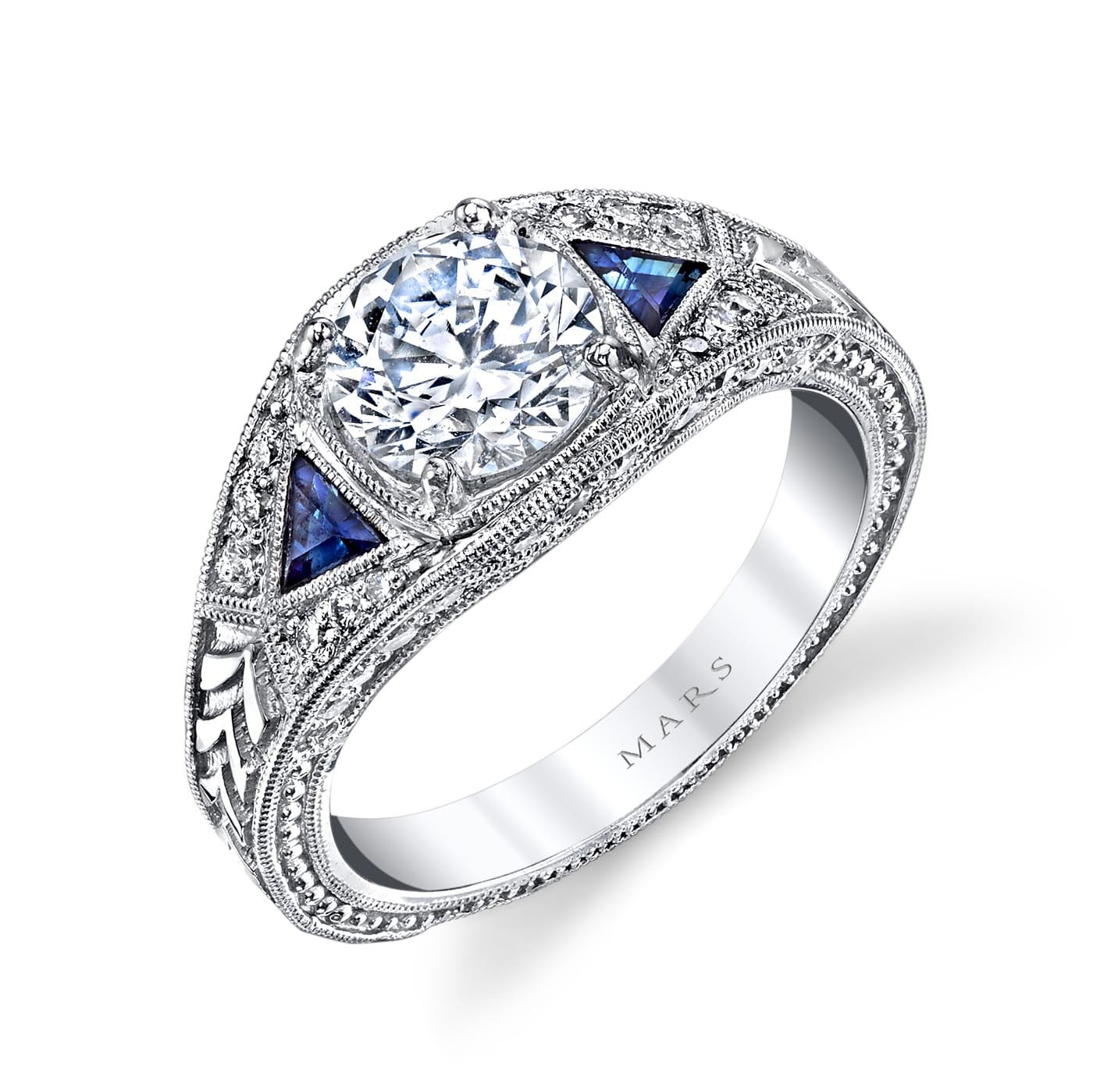 Three_Stone Engagement RingStyle #: MARS 14586