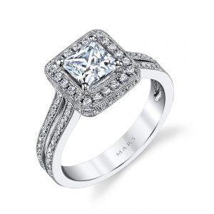 Halo Engagement RingStyle #: MARS 25014