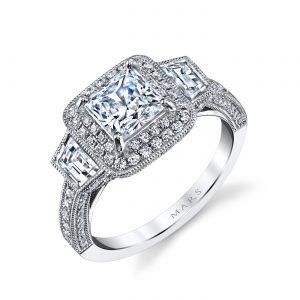 Halo Engagement RingStyle #: MARS 25229