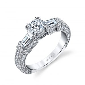 Three_Stone Engagement RingStyle #: MARS 25234