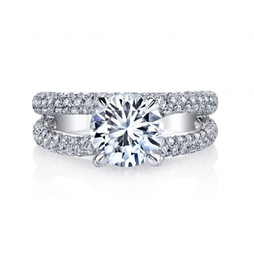 Modern Engagement Ring<br>Style #: MARS 25277