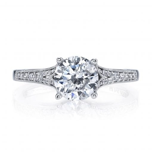 Floral Engagement Ring<br>Style #: MARS 25330