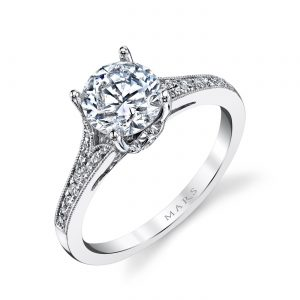 Floral Engagement RingStyle #: MARS 25330