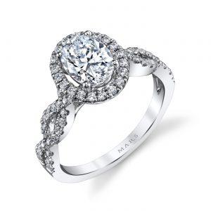 Halo Engagement RingStyle #: MARS 25366
