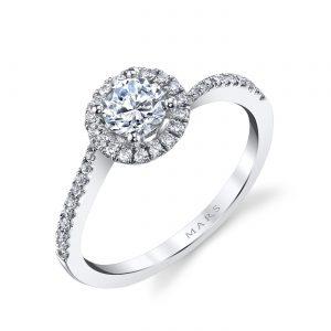 Halo Engagement RingStyle #: MARS 25393