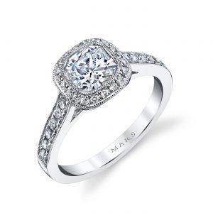 Halo Engagement RingStyle #: MARS 25400