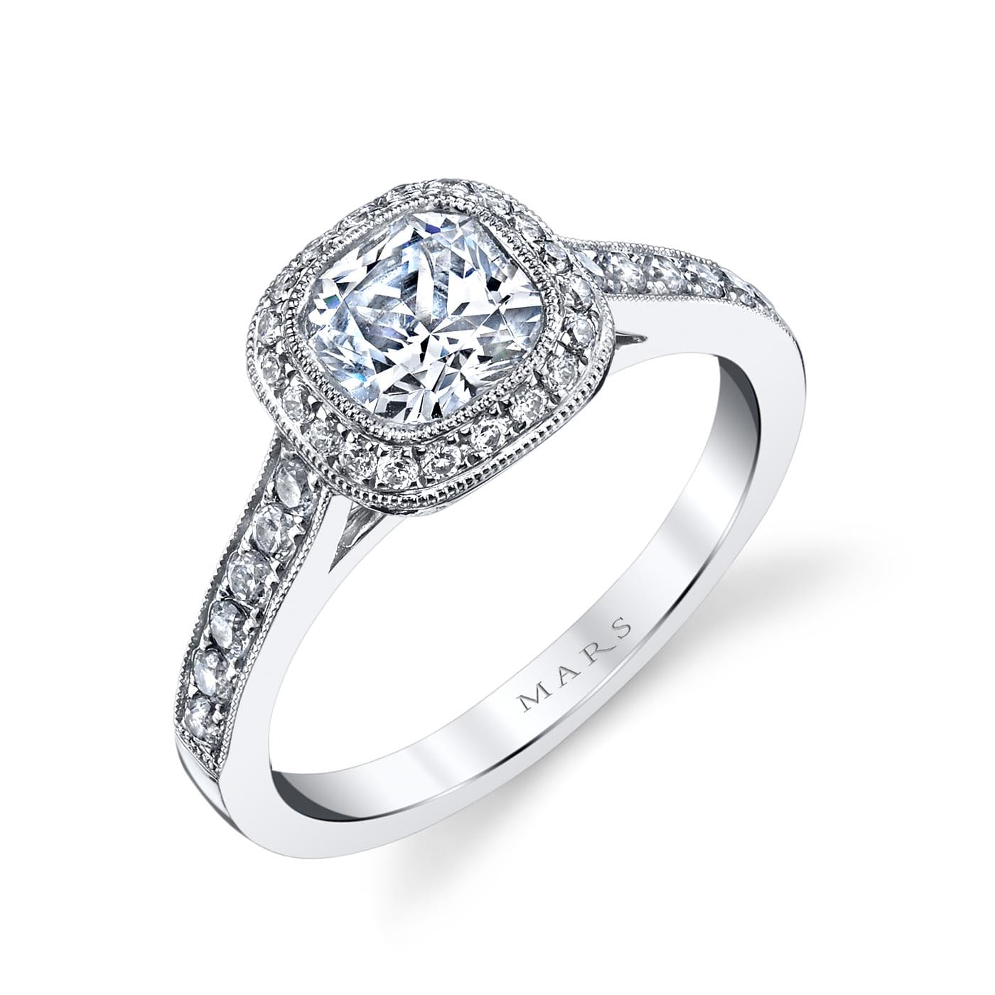 Halo Engagement RingStyle #: MARS 25400
