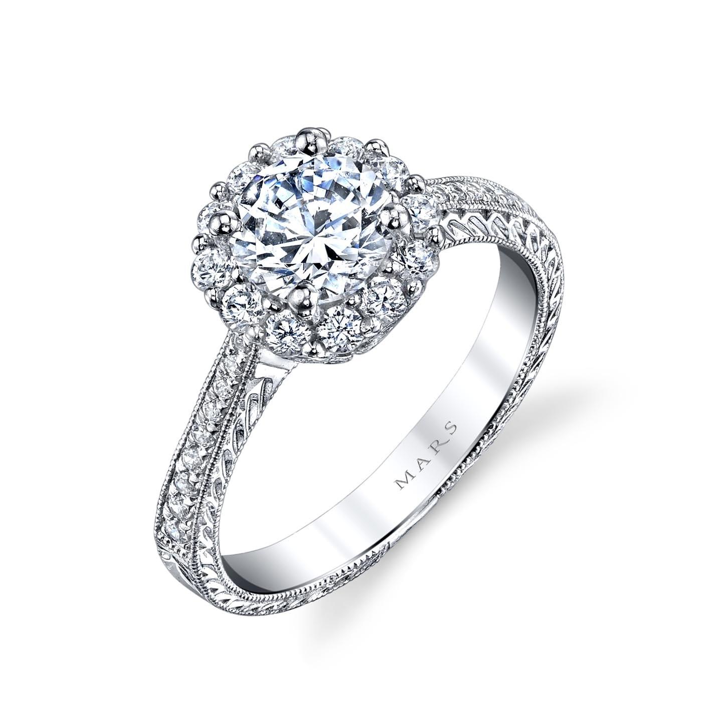 Halo Engagement RingStyle #: MARS 25586