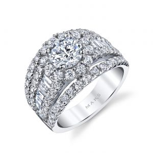 Halo Engagement RingStyle #: MARS 25625