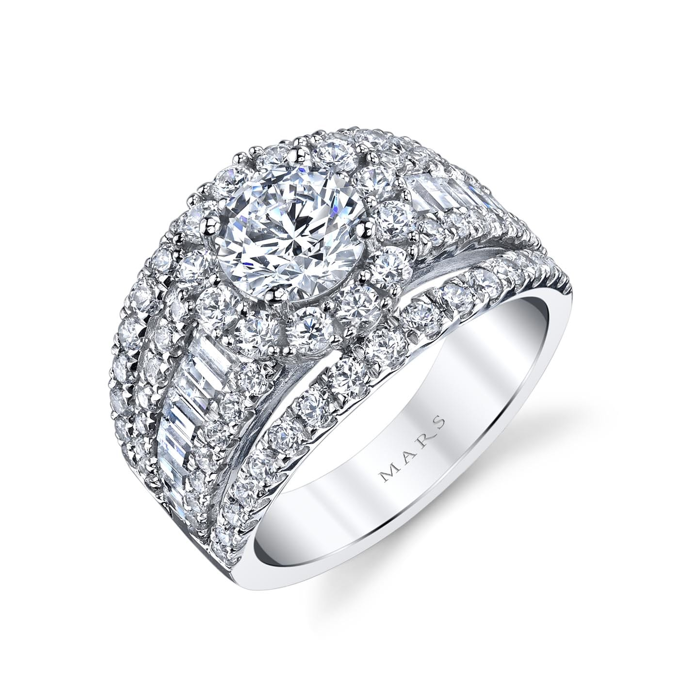 Halo Engagement RingStyle #: MARS 25625