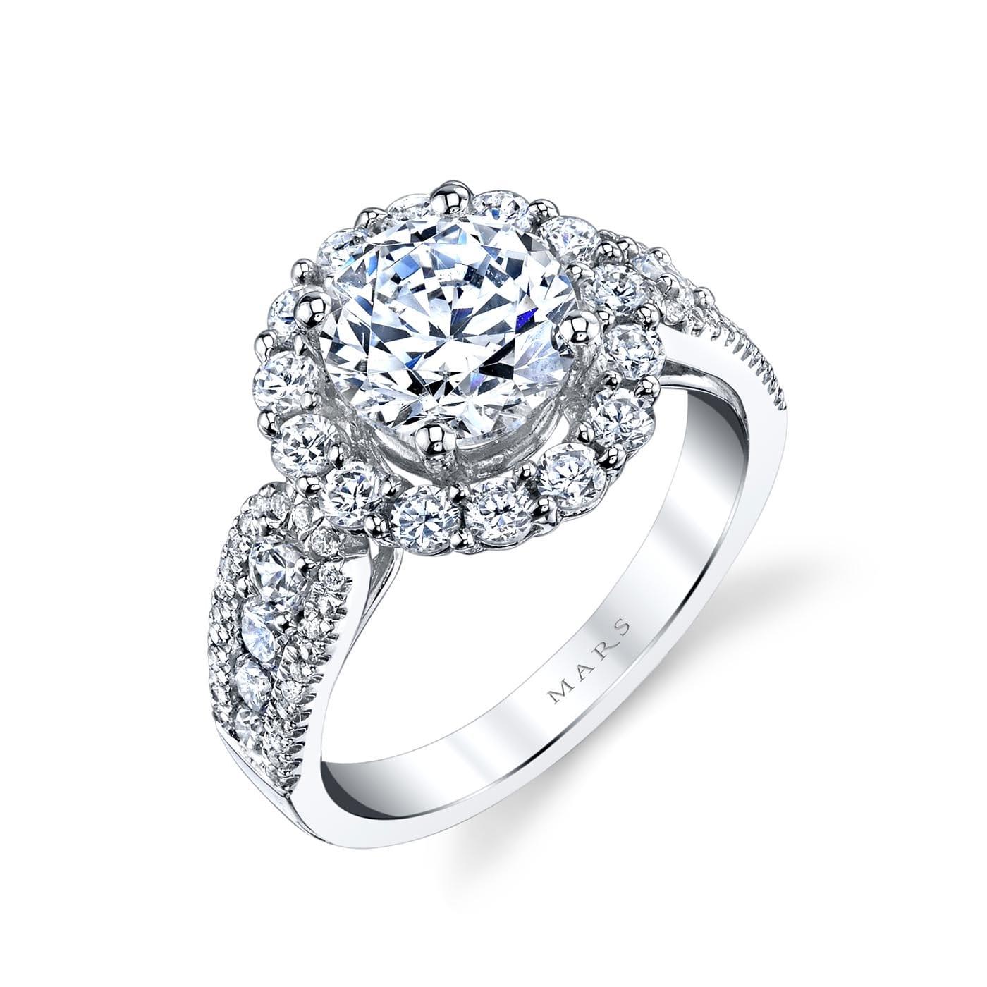 Halo Engagement RingStyle #: MARS 25628