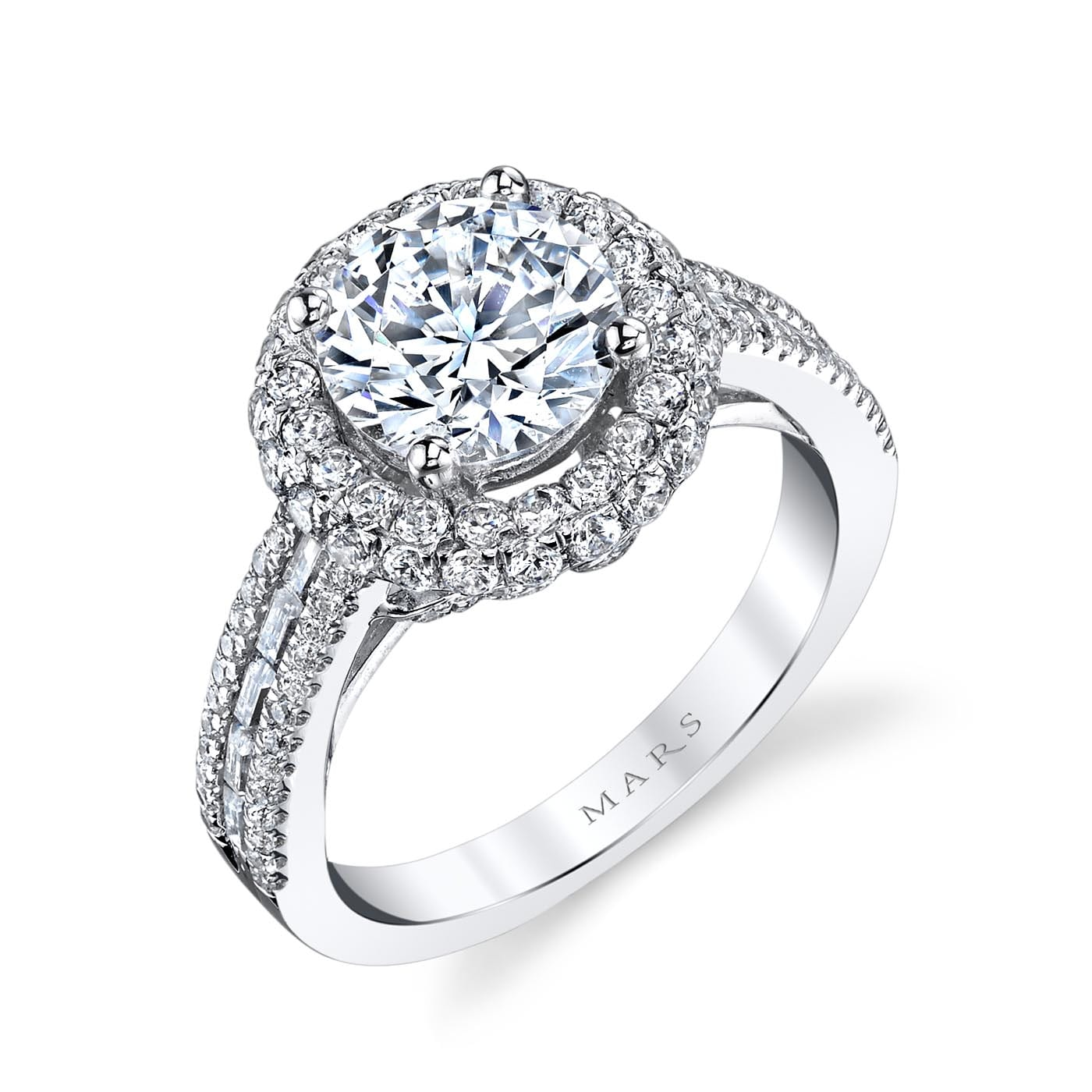 Halo Engagement RingStyle #: MARS 25637