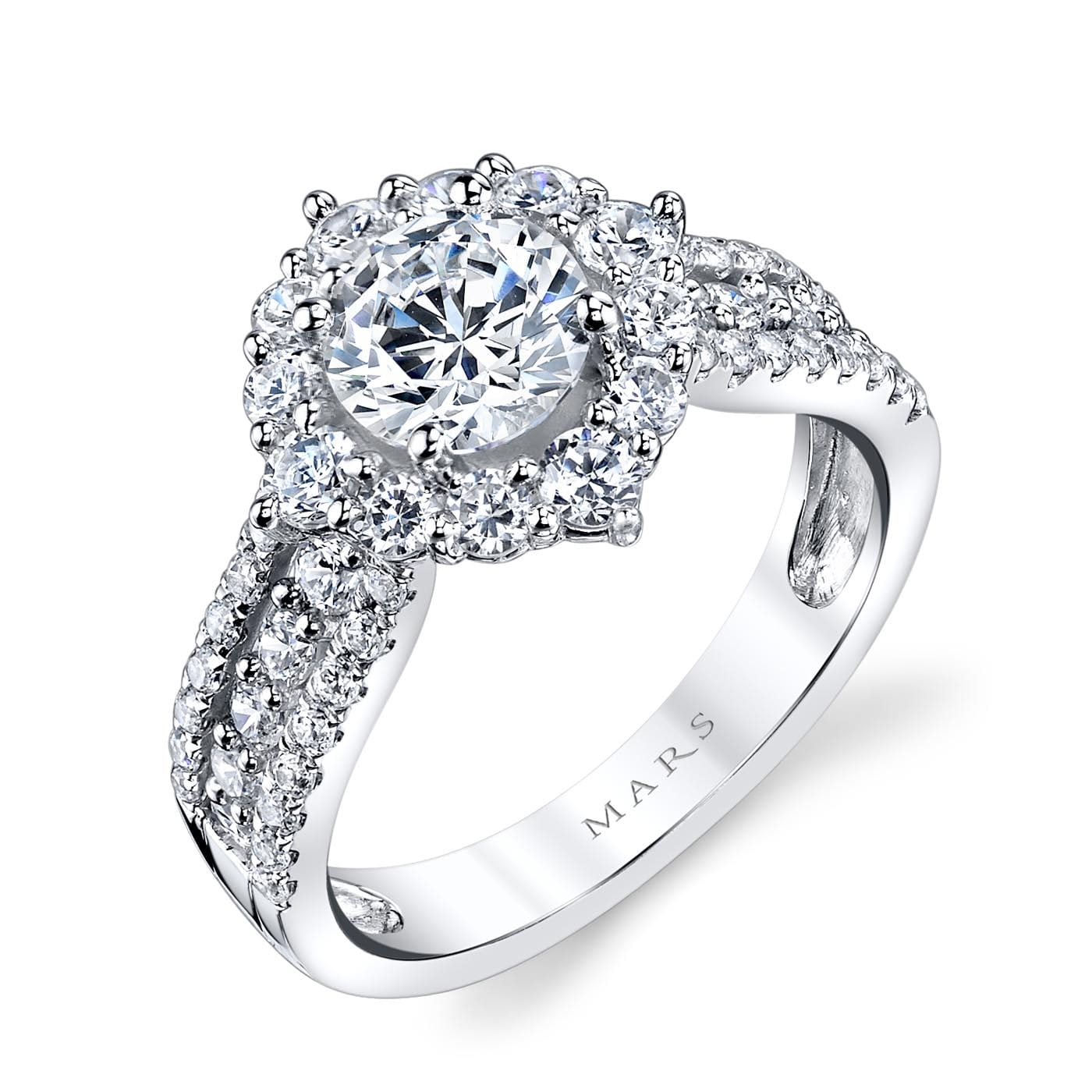 Halo Engagement RingStyle #: MARS 25644