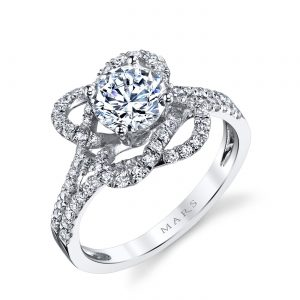 Halo Engagement RingStyle #: MARS 25668
