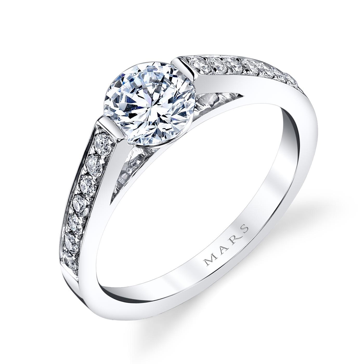 Modern Engagement RingStyle #: MARS 25721