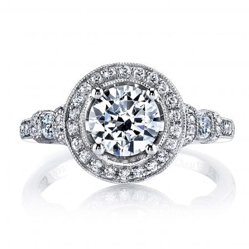 Halo Engagement Ring<br>Style #: MARS 25723