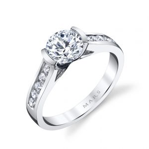 Modern Engagement RingStyle #: MARS 25726