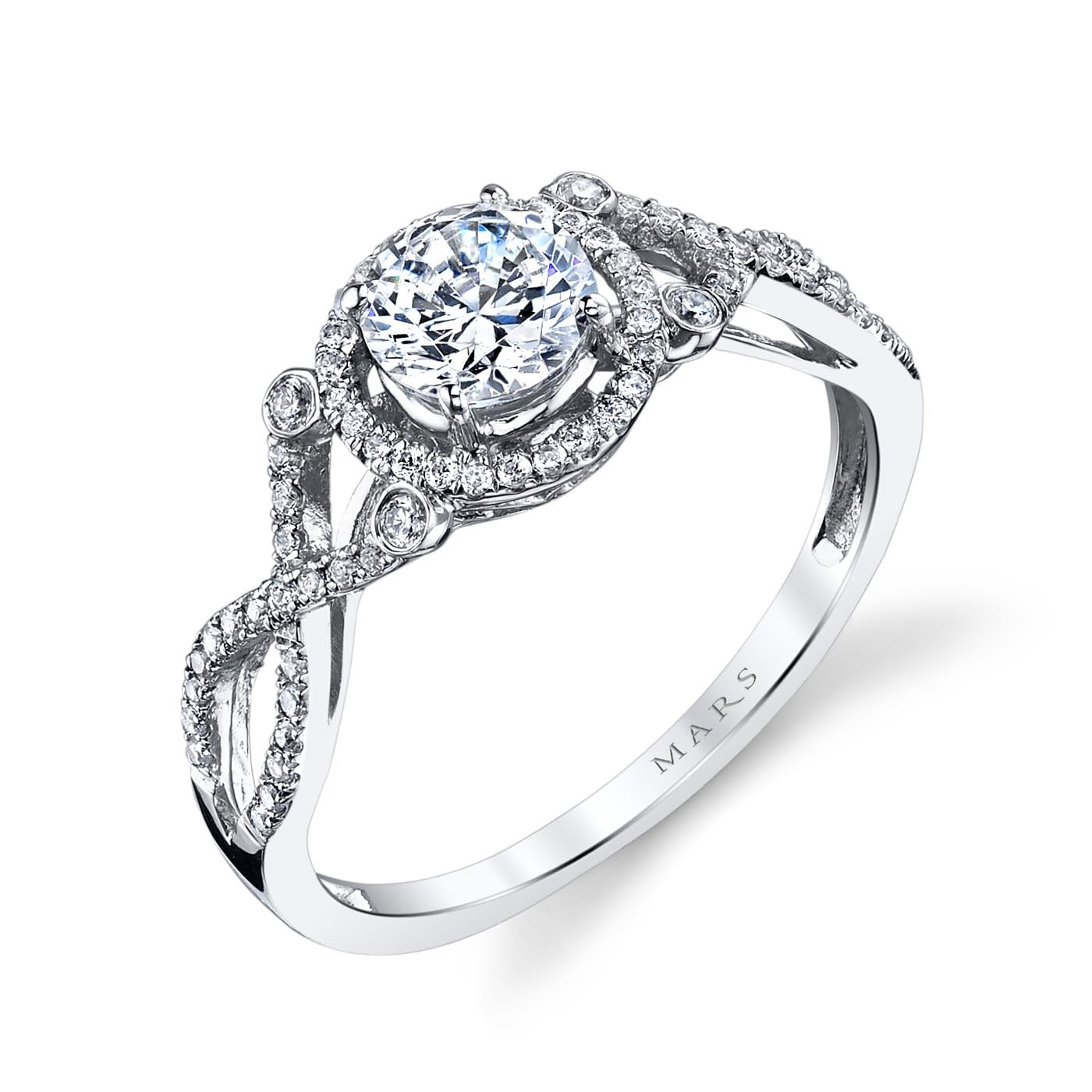 Halo Engagement RingStyle #: MARS 25740