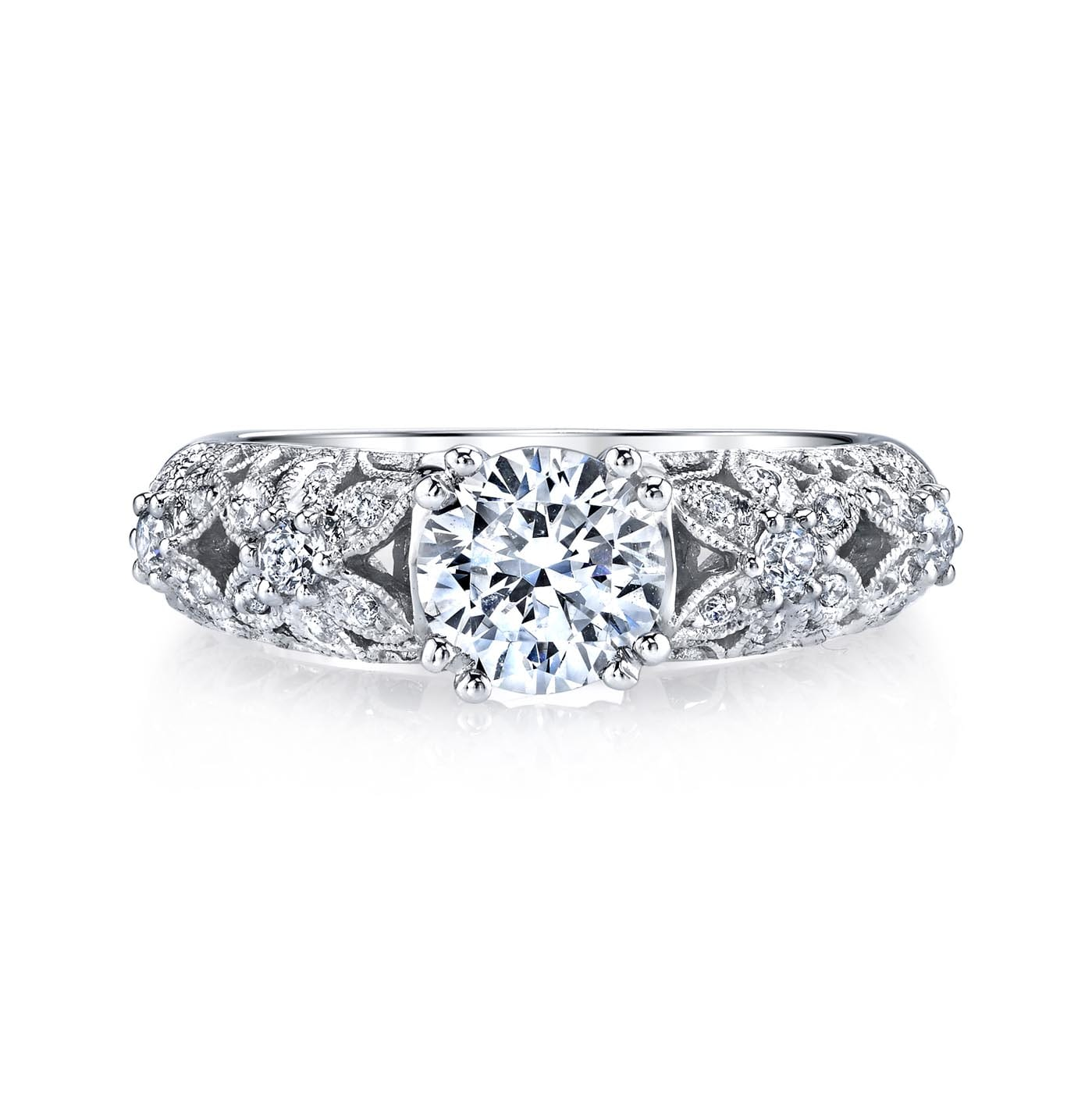 Floral Engagement RingStyle #: MARS 25772