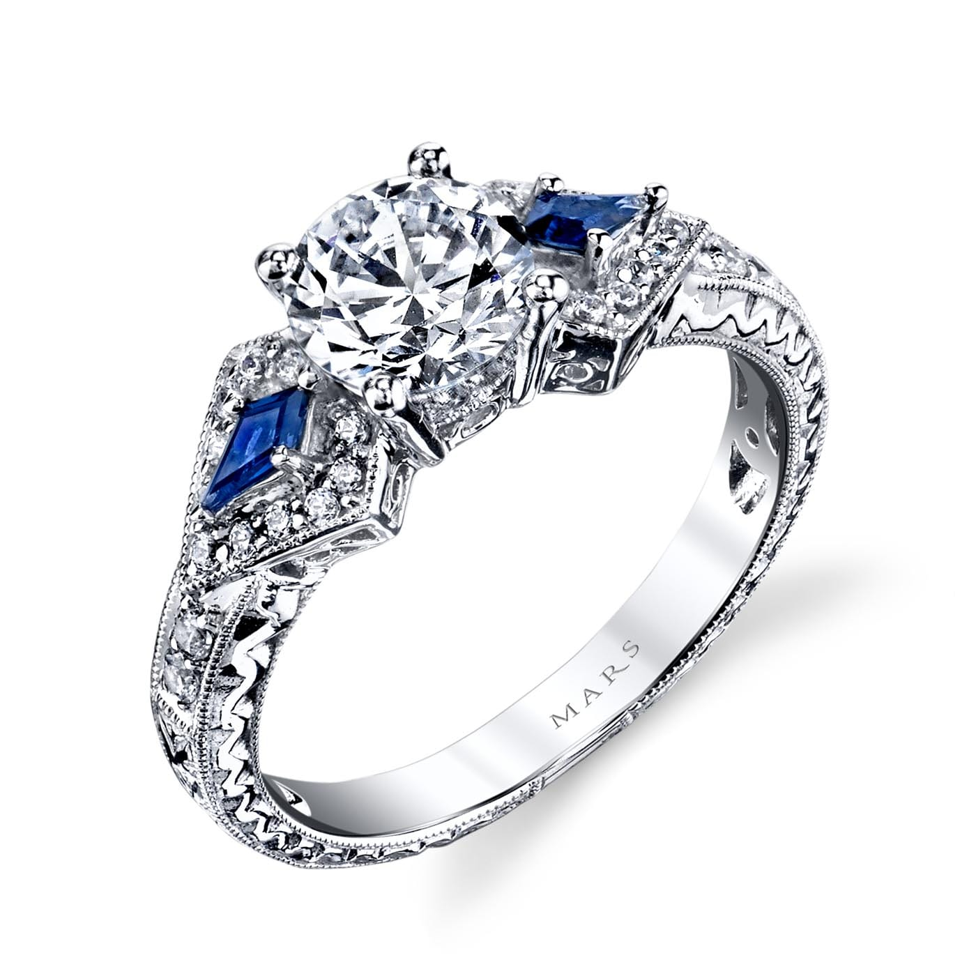 Three_Stone Engagement RingStyle #: MARS 25774