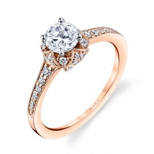 Mixed_Metal Engagement RingStyle #: MARS 25802