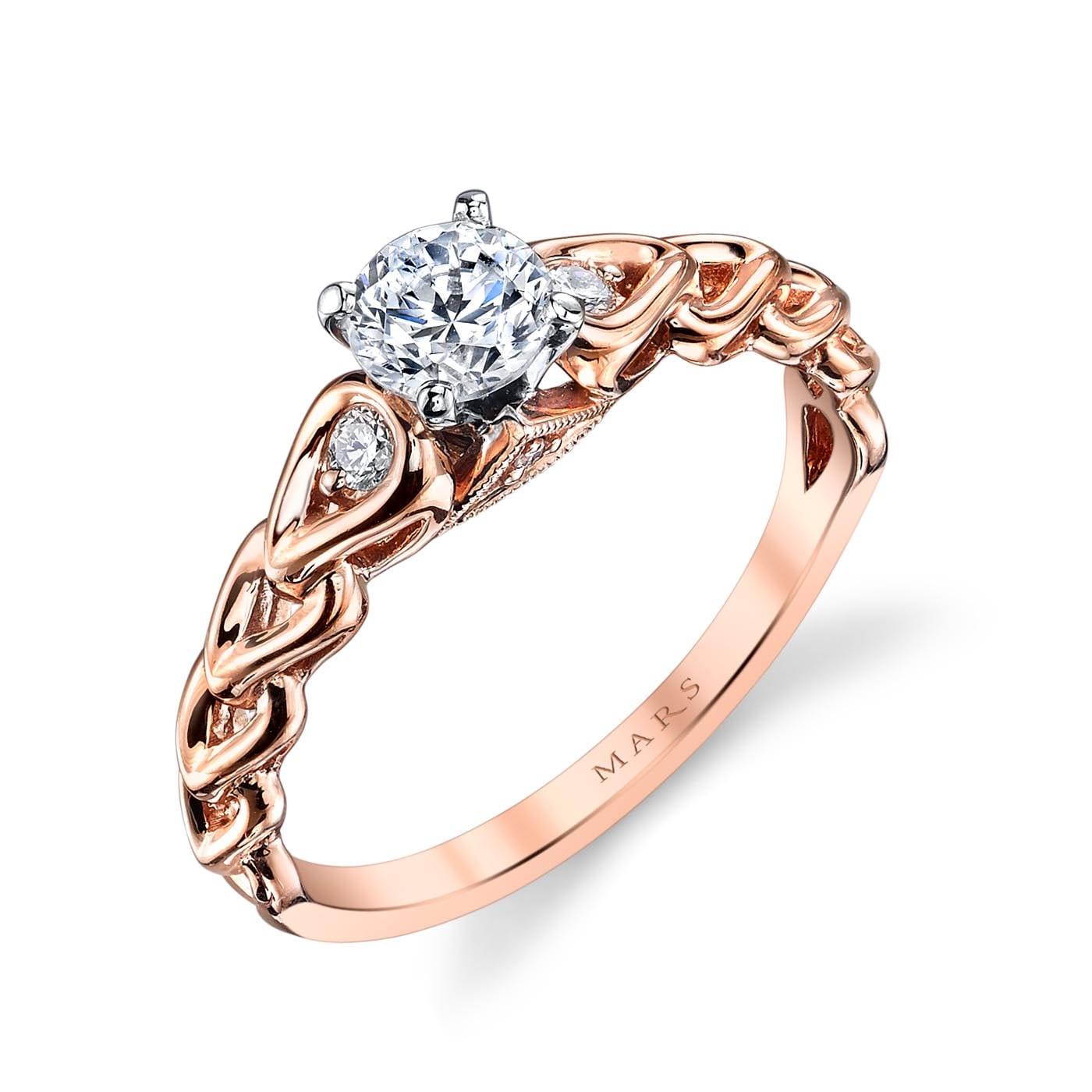 Three_Stone Engagement RingStyle #: MARS 25803