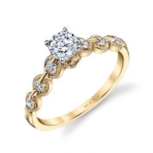 Mixed_Metal Engagement RingStyle #: MARS 25845