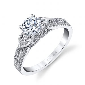 Floral Engagement RingStyle #: MARS 25858
