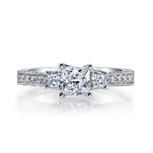 Three_Stone Engagement RingStyle #: MARS 25923