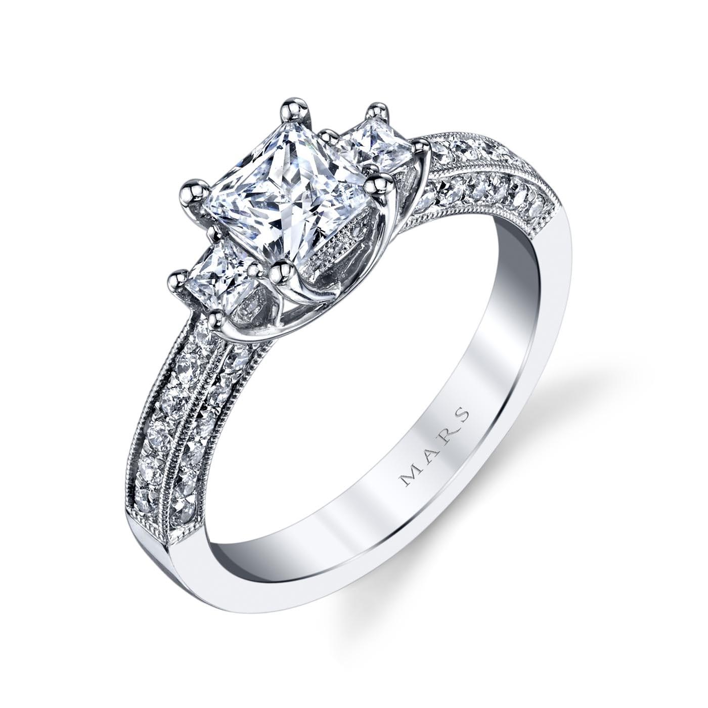 Three_Stone Engagement RingStyle #: MARS 25923