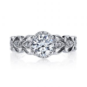 Floral Engagement RingStyle #: MARS 25987