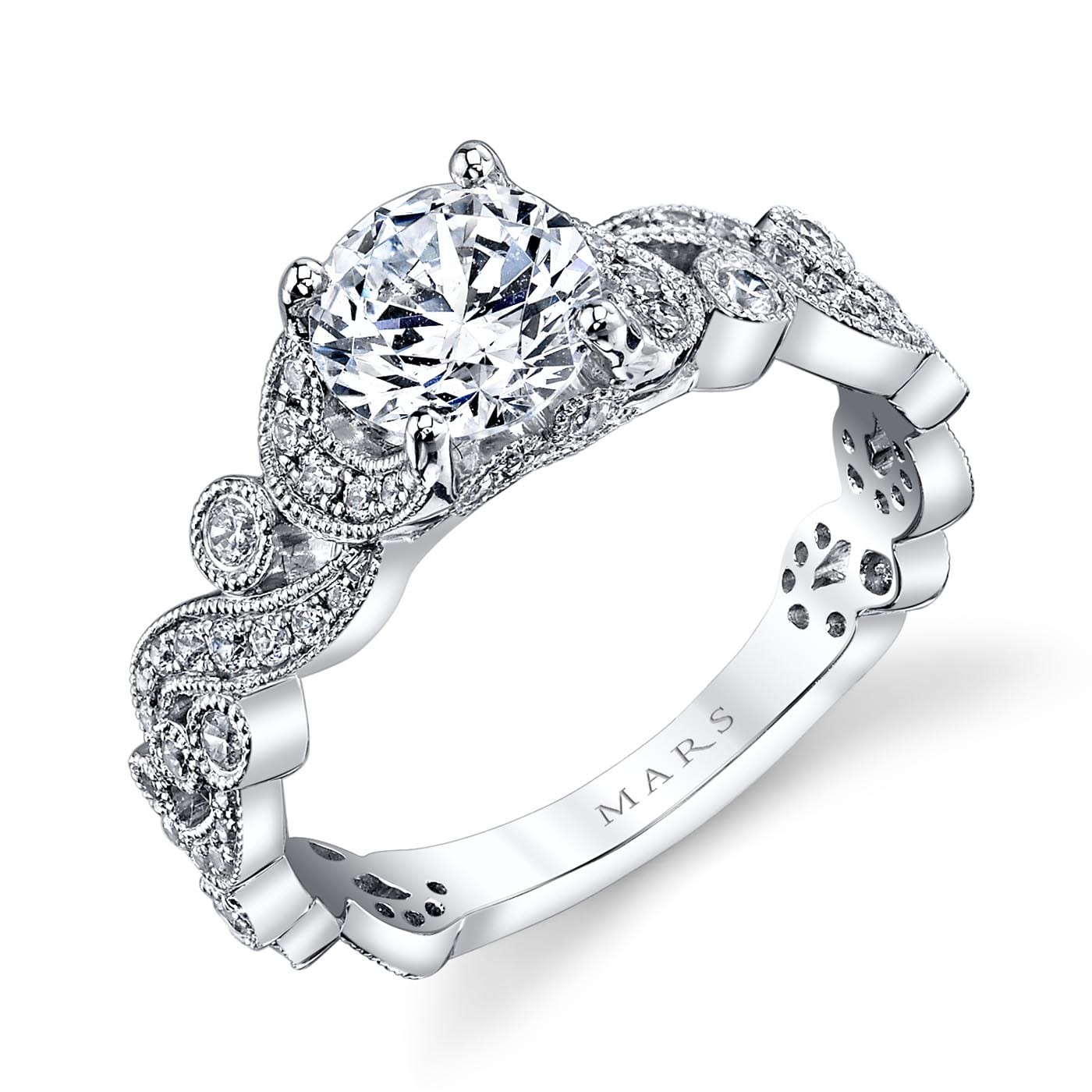 Floral Engagement RingStyle #: MARS 25988