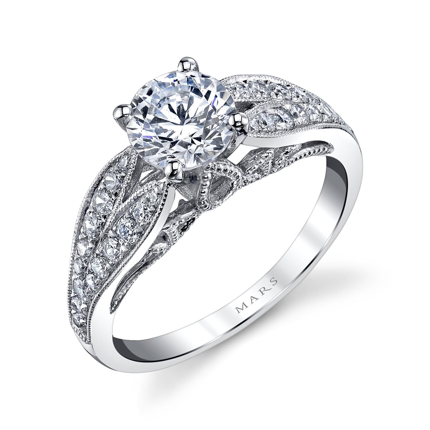 Floral Engagement RingStyle #: MARS 26003