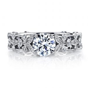 Floral Engagement RingStyle #: MARS 26010