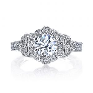 Floral Engagement RingStyle #: MARS 26011