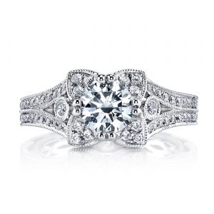Floral Engagement RingStyle #: MARS 26012