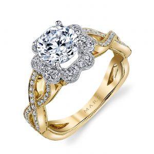 Halo Engagement RingStyle #: MARS 26020TT