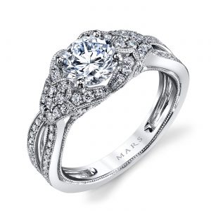Floral Engagement RingStyle #: MARS 26022