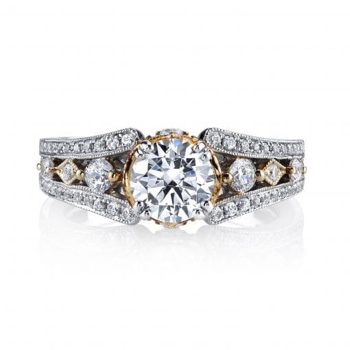 Mixed_Metal Engagement Ring<br>Style #: MARS 26048TT