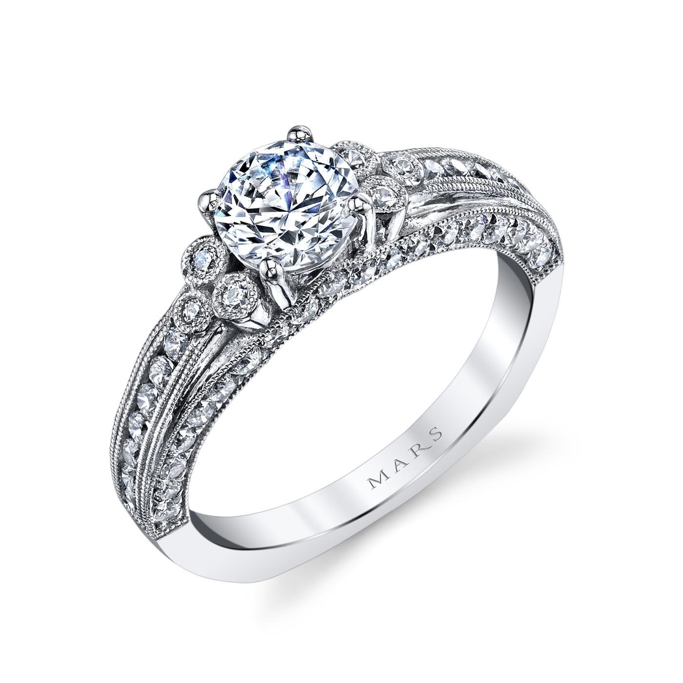 Three_Stone Engagement RingStyle #: MARS 26075
