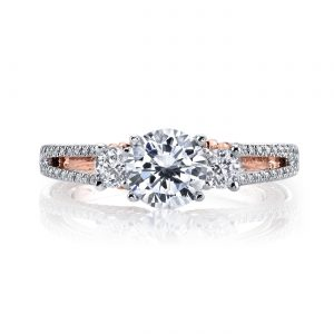Three_Stone Engagement RingStyle #: MARS 26085TT