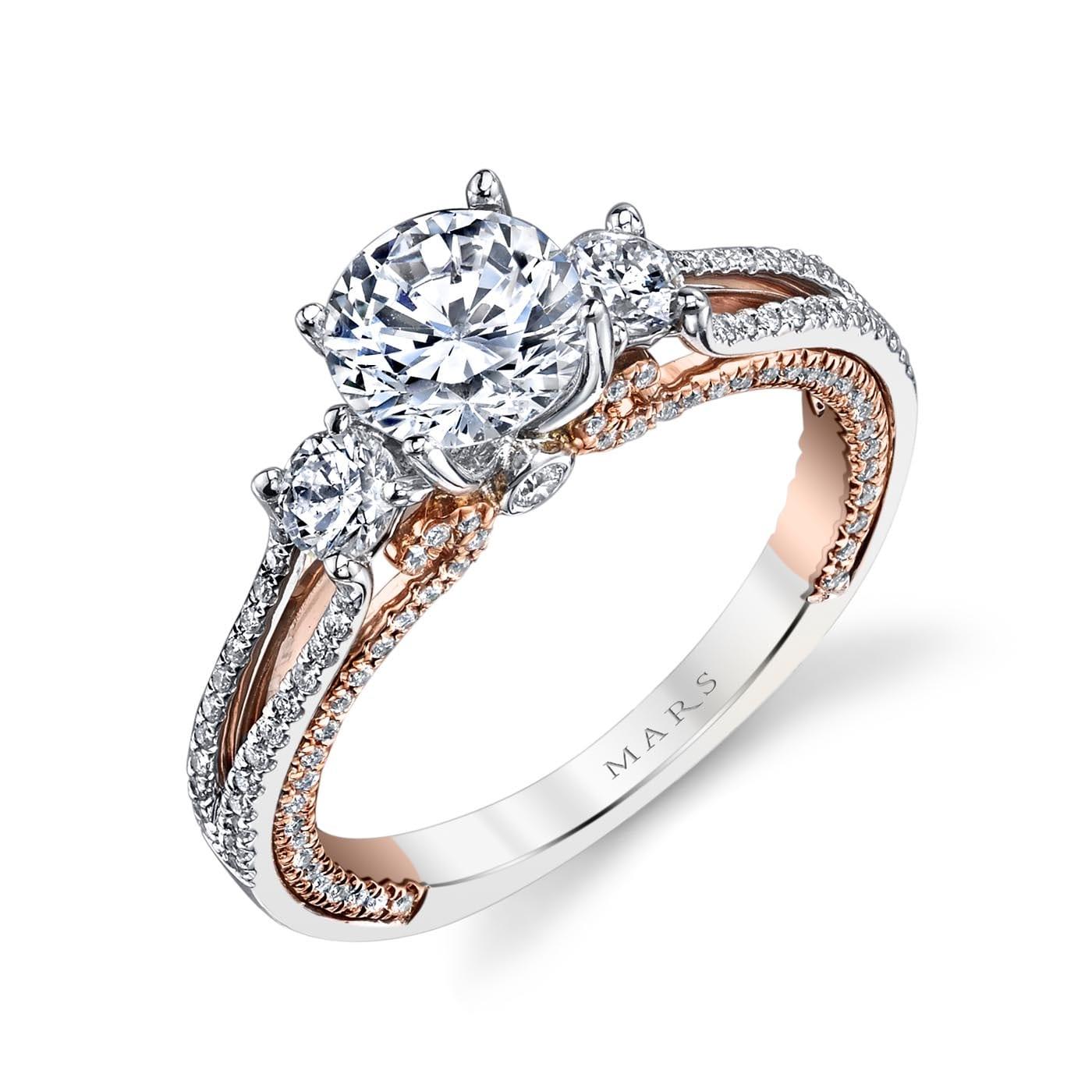 Three_Stone Engagement RingStyle #: MARS 26085TT