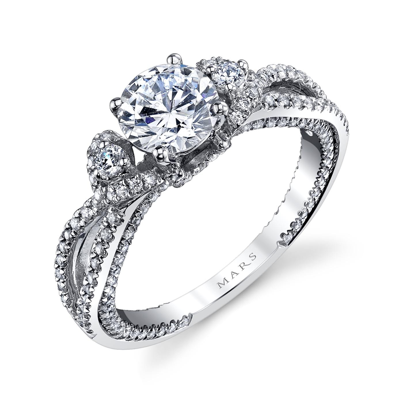 Floral Engagement RingStyle #: MARS 26088