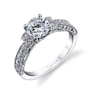 Floral Engagement RingStyle #: MARS 26093