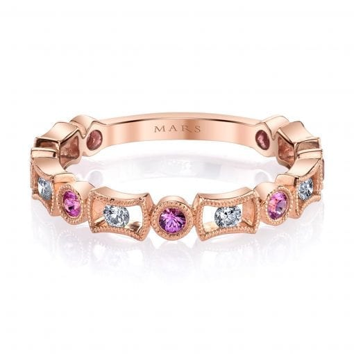 Diamond & Saphire Ring - Stackable  Style #: MARS-26211RGPS