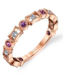 Diamond & Saphire Ring - Stackable  Style #: MARS-26211RGPS