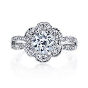 Halo Engagement RingStyle #: MARS 26214