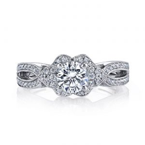Floral Engagement RingStyle #: MARS 26407